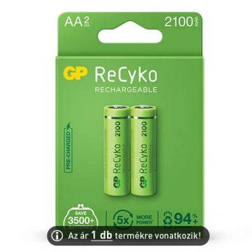 GP ReCyko+ 2100mAh AA akkumulátor (ár/db)
