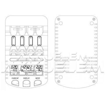 Technoline BC700 LCD akkumulátor töltő