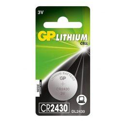 GP CR 2430 3V lítium gombelem