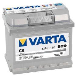 52Ah VARTA Silver Dynamic C6 akkumulátor jobb+ (552 401 052)