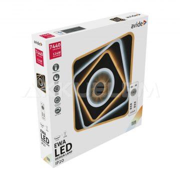 Avide DESIGN lámpa mennyezeti EWA 124W 7440lm távirányítós