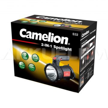 Camelion S32 kézireflektor+kemping lámpa IPX4