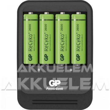 GP PowerBank akkutöltő PB570 + 4db 2700mAh AA akku