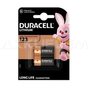 Duracell CR123 3V lítium elem CR17345 (ár/db)
