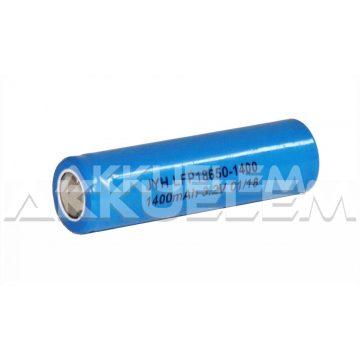1400mAh 3,2V Li-FePO4 18650 ipari akkumulátor cella LFP18650-1400