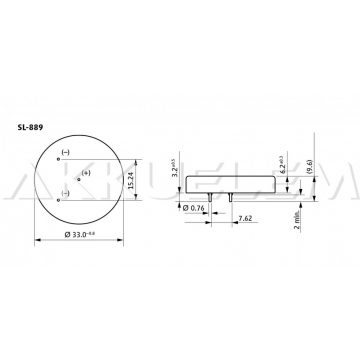 Tadiran 1/10D lítium elem SL889 SL-389
