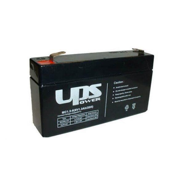 UPS Power 6V 1,3Ah zselés akkumulátor (MC1.3-6)