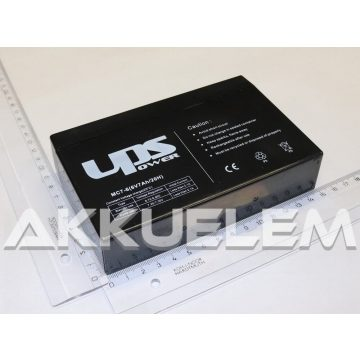 UPS Power 6V 7Ah zselés akkumulátor (MC7-6)