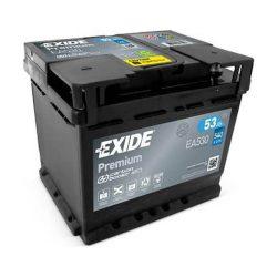 53Ah EXIDE Premium EA530 autó akkumulátor jobb+