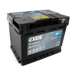 64Ah EXIDE Premium EA640 autó akkumulátor jobb+