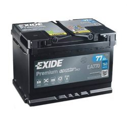 77Ah EXIDE Premium EA770 autó akkumulátor jobb+
