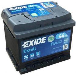 44Ah EXIDE Excell EB442 akkumulátor jobb+