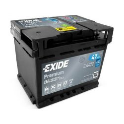 47Ah EXIDE Premium EA472 autó akkumulátor jobb+
