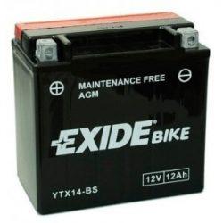 Exide YTX14-BS 12V 12Ah motorkerékpár akkumulátor BAL+