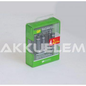 GP ReCyko+ PRO 800mAh AAA akkumulátor 6db-os csomagban