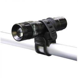 P3839 3W fókuszálható LED fém kézilámpa kerékpár tartóval