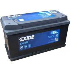 95Ah EXIDE Excell EB950 autó akkumulátor jobb+
