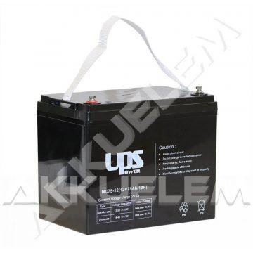 UPS Power 12V 75Ah zselés akkumulátor (MC75-12)