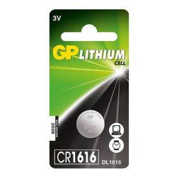 GP CR 1616 3V lítium gombelem