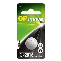 GP CR 2016 3V lítium gombelem