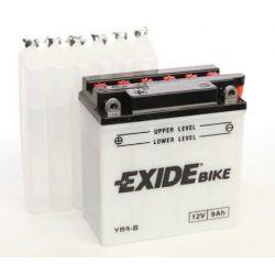 Exide YB9-B EB9-B 12N9 12V 9Ah motorkerékpár akkumulátor BAL+