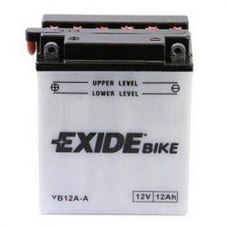 Exide YB12A-A 12V 12Ah autó akkumulátor BAL+