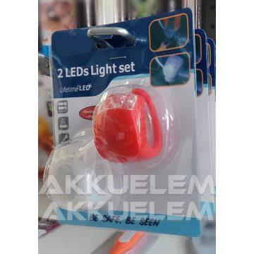 LED szilikon kerékpárlámpa készlet