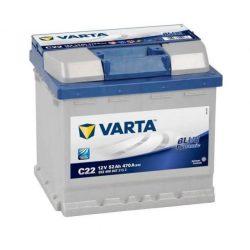 Varta Blue Dynamic C22 12V 52Ah autó akkumulátor 552400