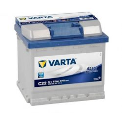 52Ah Varta Blue Dynamic C22 12V autó akkumulátor (552 400 047)