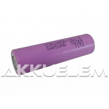 Ipari akkucella 18650 Li-ion 3,6V 2600mAh Samsung 18650-26JM