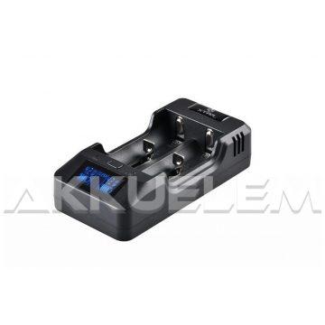 XTAR VP2 két csatornás Li-Ion LCD kijelzős hálózati akkutöltő
