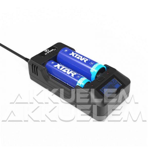 Xtar VP2 Li-Ion akkumulátor töltő