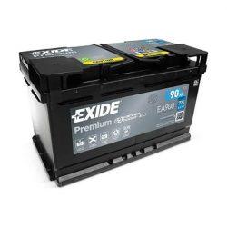 90Ah EXIDE Premium EA900 autó akkumulátor jobb+