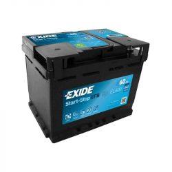 60Ah EXIDE ECM EL600 start-stop autó akkumulátor jobb+