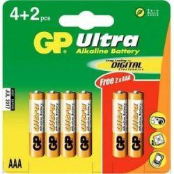 GP 1,5V AAA mikro ultra alkáli elem 4 + 2 db AJÁNDÉK