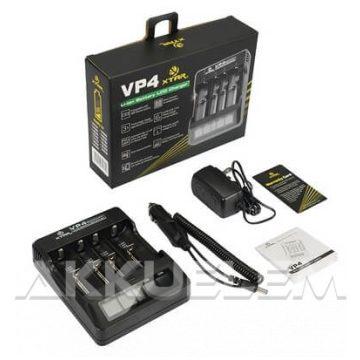 XTAR VP4 négy csatornás Li-Ion LCD kijelzős hálózati akkutöltő