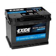 EXIDE AGM EK600 60Ah 680A 242x175x190mm Start-Stop akkumulátor Jobb+
