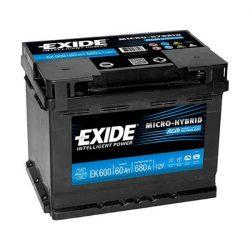 EXIDE Start-Stop AGM EK600 60Ah 680A 242x175x190mm