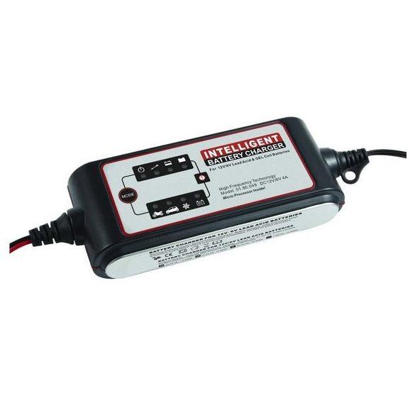 Carstel 12V 4A autó akkumulátor töltő