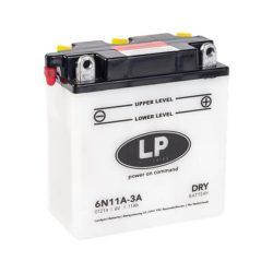 Landport 6N11A-3A motorkerékpár akkumulátor 6V 11Ah 88A JOBB+