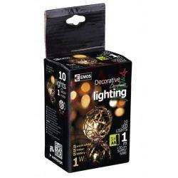 Karácsonyi dekoráció gömbök 10db LED 1,3m