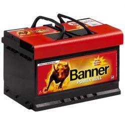 Banner Power Bull 12V 74Ah 680A P7412 autó akkumulátor jobb+