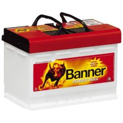 Banner Power Bull Professional 12V 77Ah 680A P7740 autó akkumulátor jobb+