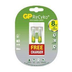 GP ReCyko+ 2 * 800mAh AAA akku + ajándék töltő
