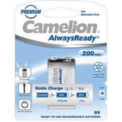 Camelion AlwaysReady 200mAh 9V elemméretű akkumulátor