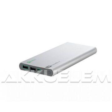 GP FP10M 3,7V 10000mAh külső akkumulátor ezüst színű