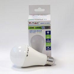 V-TAC 15W E27 Opál LED-izzó 1500lm természetes fehér fényű 4500 K