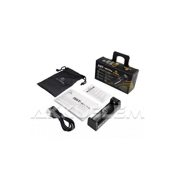 XTAR MC1 Plus ANT 5V Li-ion akkumulátor töltő kijelzővel