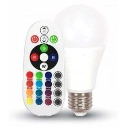 V-TAC 6W E27 LED-izzó 470lm távirányítós (2700K)