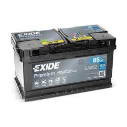 85Ah EXIDE Premium EA852 12V autó akkumulátor jobb+